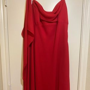 Red high-low formal dress